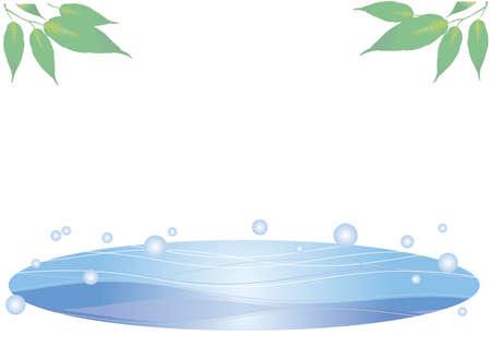 Cool summer sea frame - Leaf  イラスト・ベクター素材