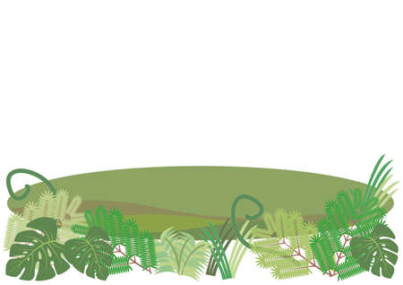 Tropical jungle and Swamp background image Ilustração