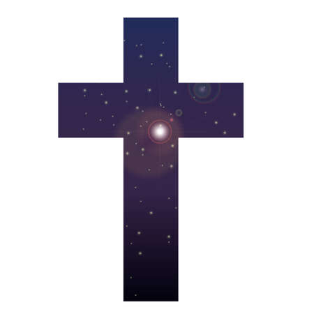 The universe floating in the cross