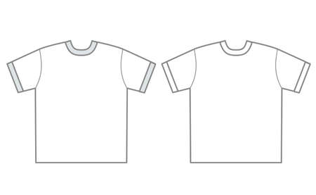 Plain t-shirt template - for marketing and planning, design Illustration