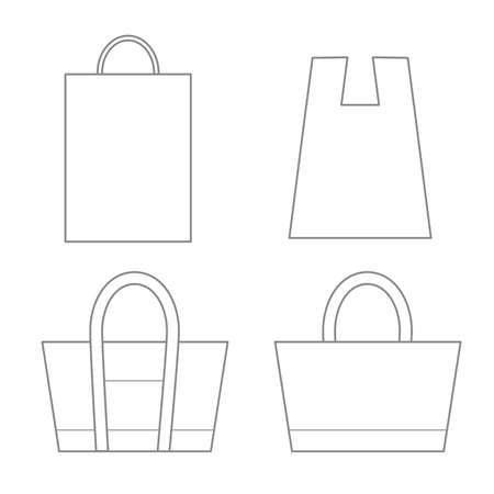 Plain bag template - for marketing and planning, design