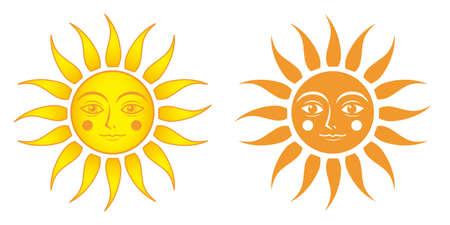 Cute face sun - fantasy image
