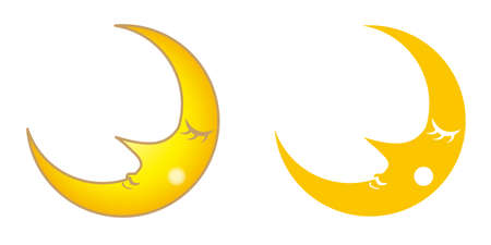 Cute face crescent Moon - fantasy image