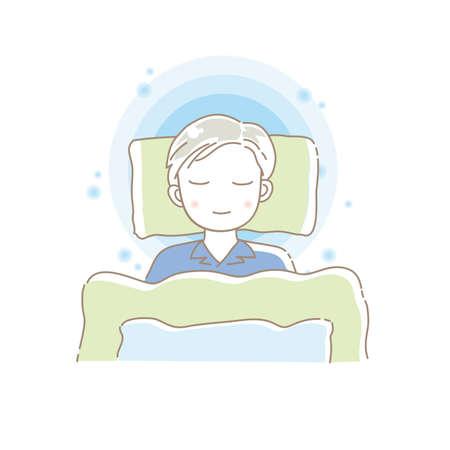 A man who sleeps comfortably Vektoros illusztráció