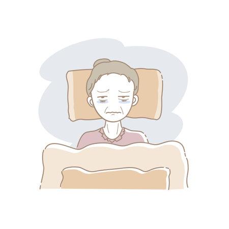 Bedridden Senior Woman - Sick in Bed image