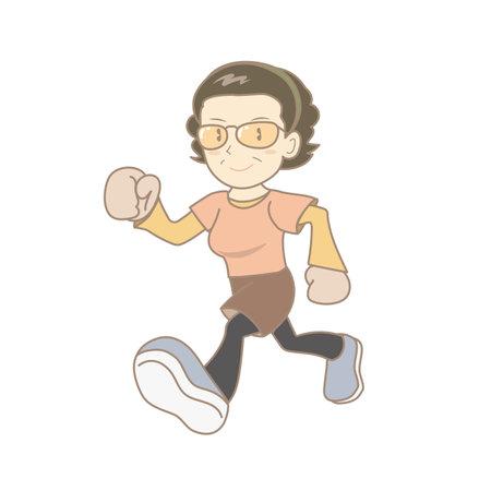 Senior woman jogging image