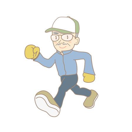 Senior man jogging image
