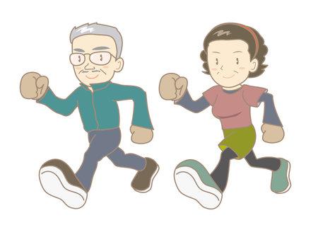 Senior couple jogging image
