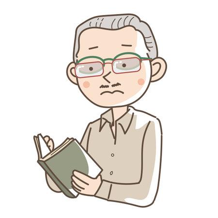 A man wearing double reading glasses - Unique image Vettoriali