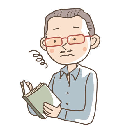 A man wearing double reading glasses - Unique image