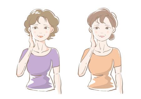 Worried senior woman - Variation set