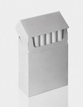 cigarette pack on a white background photo