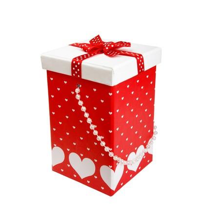 Ornament Gift Box With Satin Ribbon Bow  photo