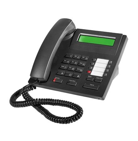 ip: Modern digital black IP phone