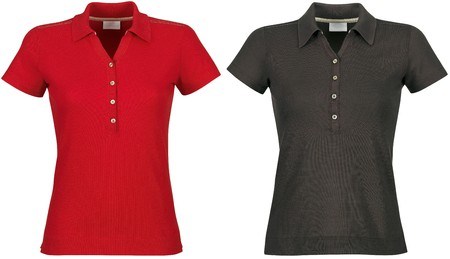 Front of clean red &amp, black T-Shirts (Polo)  photo
