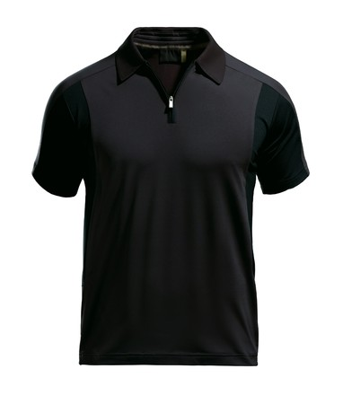 Black polo shirt design template  Stock Photo