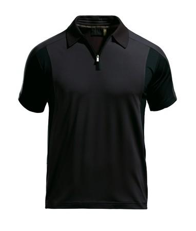 polo: Ontwerpsjabloon zwarte polo shirt