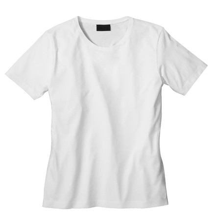 with orange and white body: Unisex T-shirt template