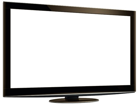 TV outline and screen. Stock Photo - 7424866