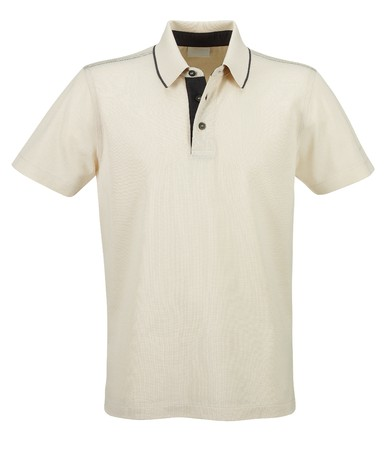 polo shirt: Front of clean Beige (Dairy) T-Shirts (Polo)