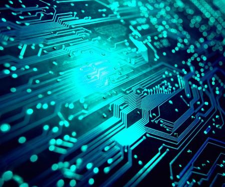 circuito electronico: Detalle de la placa de circuito electr�nico. Centrarse en degradado!