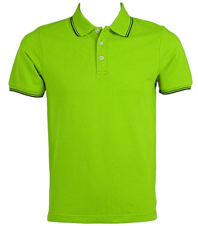 polo shirt: Front of clean Green T-Shirts (Polo)  Stock Photo