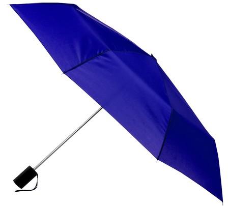 Opened umbrella isolated on white background photo