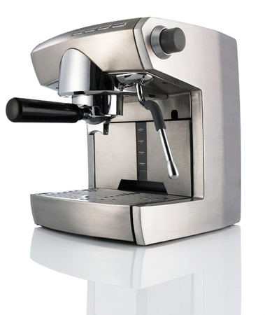 coffee maker: Modern Coffee Machine (maker) isolated on white background