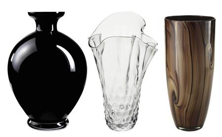 Beautiful Art Deco Vase isolated on white background  photo