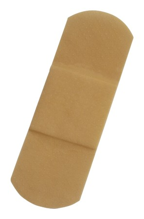 First-aid plaster,Isolated on white photo
