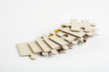 The isolate puzzle on a white background photo