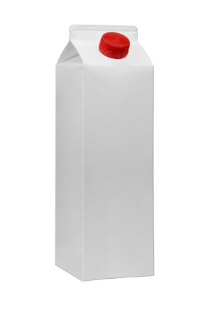 Gable top carton for logo presentation or other client rendition photo