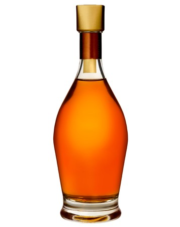 коньяк: Brandy bottle isolated on a white background