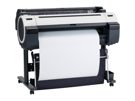 Printer with clean sheet isolated over white Stock Photo - 7971322