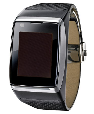 Ffuturistic Business Fancy Wrist Watch with TV on White Background photo