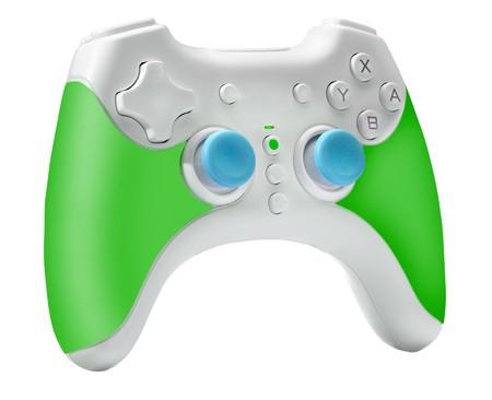 joypad: Modern Joystick, Gamepad or Video game controller, isolated on white background Stock Photo