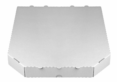 Close up of Empty carton box for pizza on white background Stock Photo - 7971316