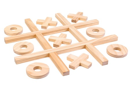 zeroes: Game illustration in daggers and zeroes. childrens game Stock Photo