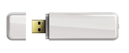 Usb flash memory isolated on white background. photo