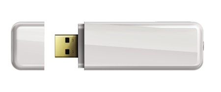 Usb flash memory isolated on white background.