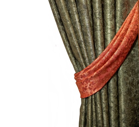 Luxury curtain, (classic) isolated on white background  Stock Photo - 7981689