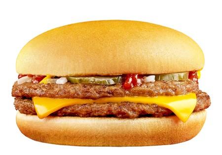 big tasty cheeseburger isolated on white background photo
