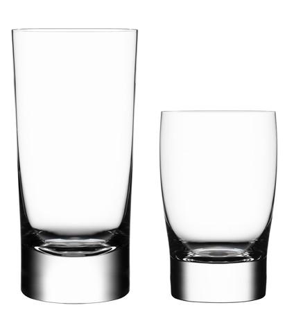 glas: Leeres Glas isoliert auf wei�em Hintergrund Lizenzfreie Bilder