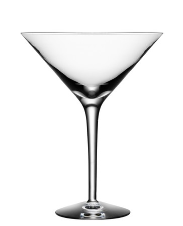 Empty cocktail glass isolated on a white background