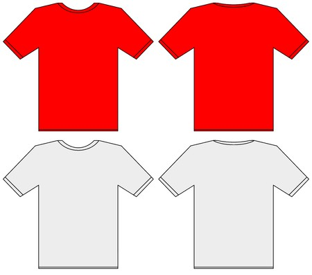 Blank t-shirt template. Front and back illustration Stock Illustration - 7981728