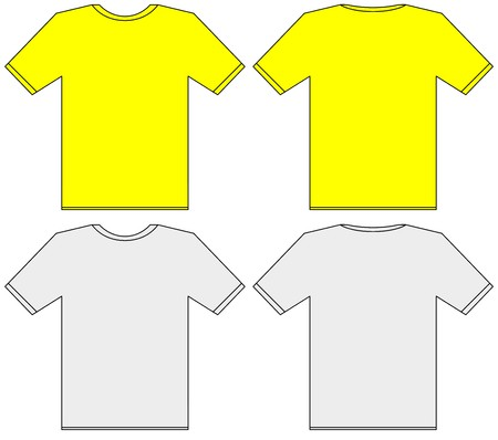 Blank t-shirt template. Front and back illustration