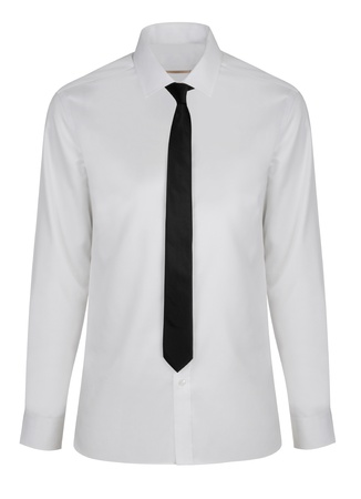 formal dress: new shirt with necktie isolated Stock Photo