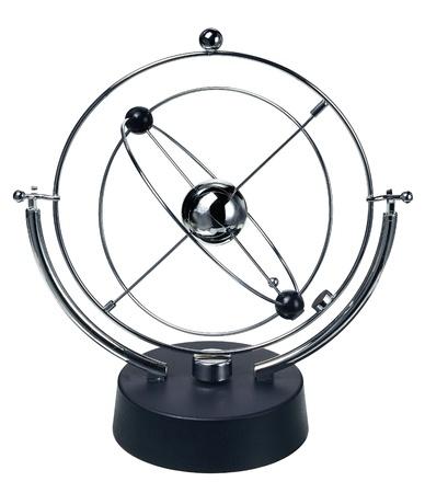 pendulum: Newtons Cradle isolated on the white background