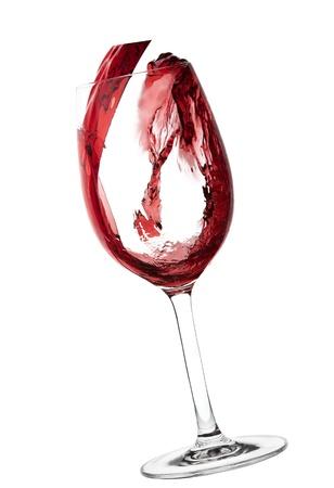 Red Wine Abstract Splashing Stock Photo - 8581867