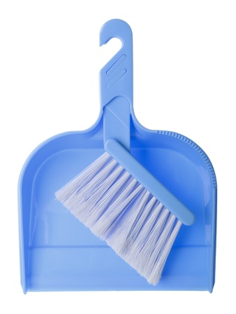 close up of broom brush and handle on white background Stock Photo - 8581876